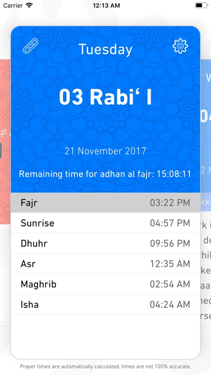 Prayer times & calendar screenshot-1