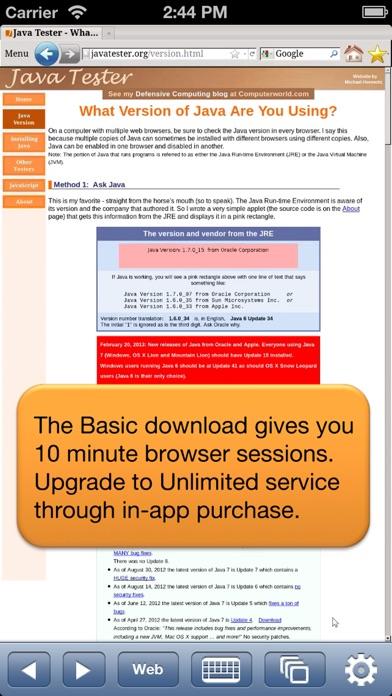 Cloud Browse review screenshots