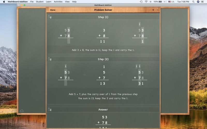 MathBoard Addition Screenshot