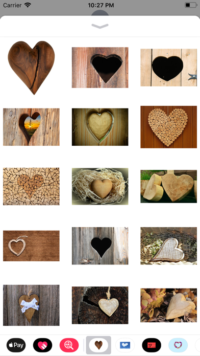 Rustic Hearts Sticker Pack screenshot one