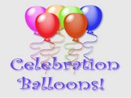 Celebration Balloons is a group of multicolored balloons that you can gift over and over to family and friends