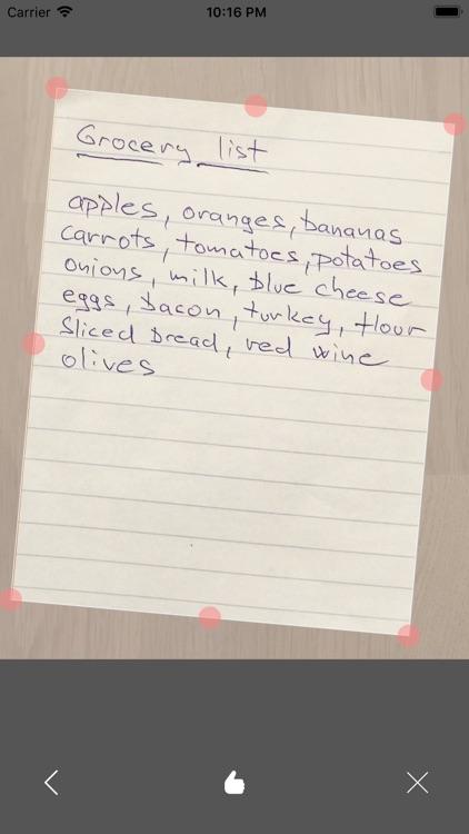 Paper Shopping List