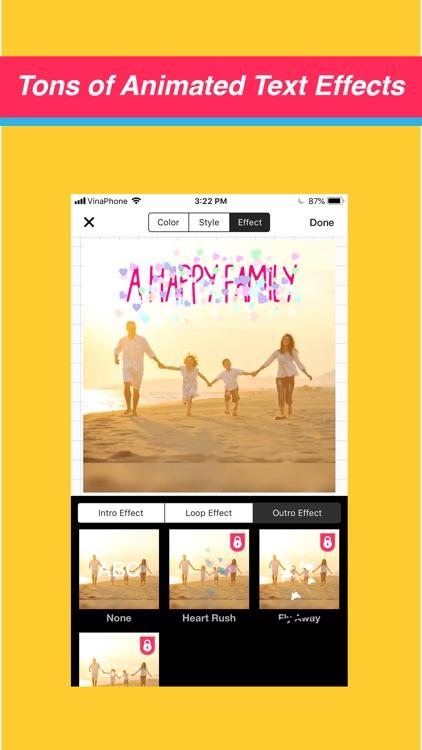 Video Maker Text Sticker Music screenshot-3
