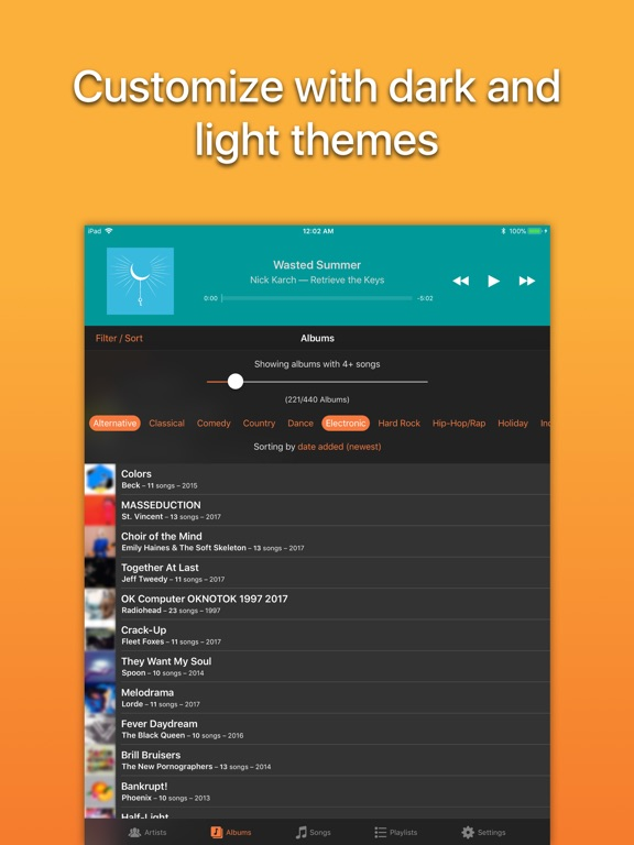 Screenshot #4 for Picky Music Player