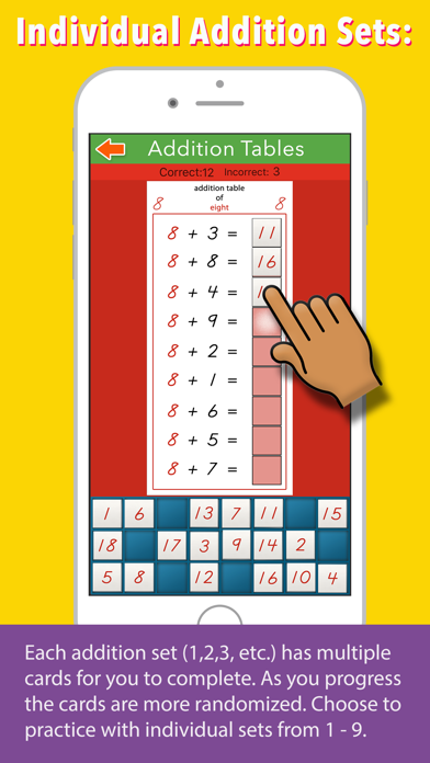 Addition Tables - Montessori screenshot 3