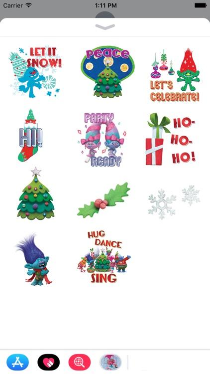 Trolls Holiday Stickers screenshot-3