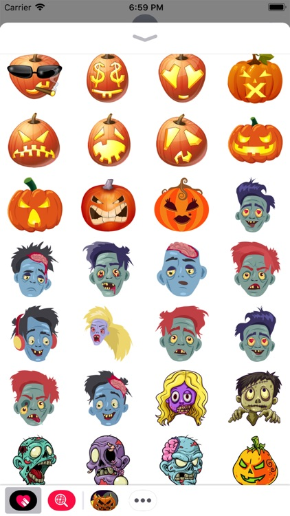 Scary Ghost n Zombie Stickers screenshot-4