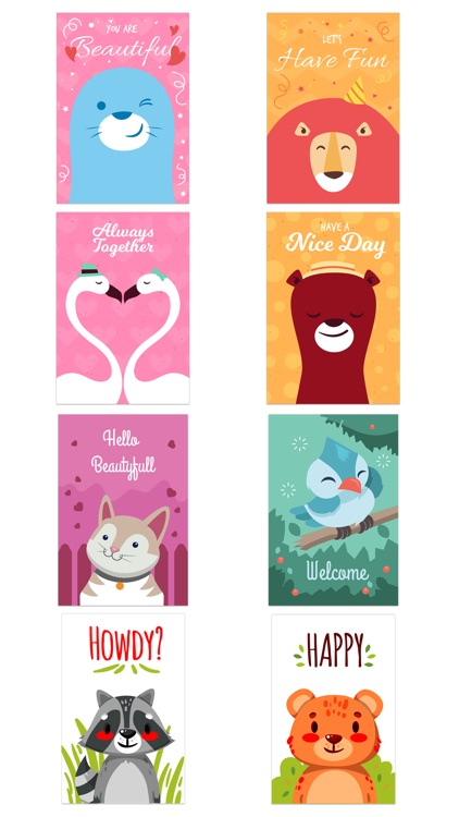 Happy Talk by Cute & Lovely Animal Characters screenshot-4
