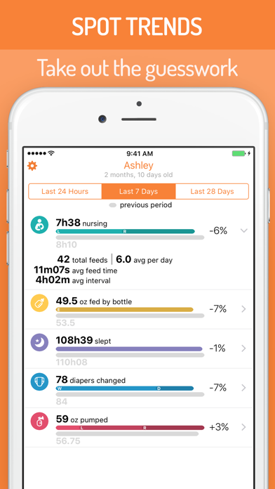Screenshot for BabyTime Baby Feeding Timer - Breastfeeding & More in Japan App Store