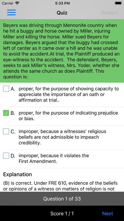 Evidence: Supreme Bar Review screenshot-5