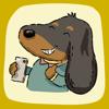 Hieu Tran - Dachshund Emoji Doxie Stickers kunstwerk