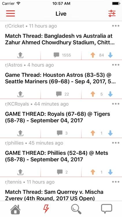 Game Threads for Reddit