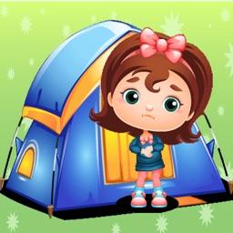 Girl Summer Camp Vacation