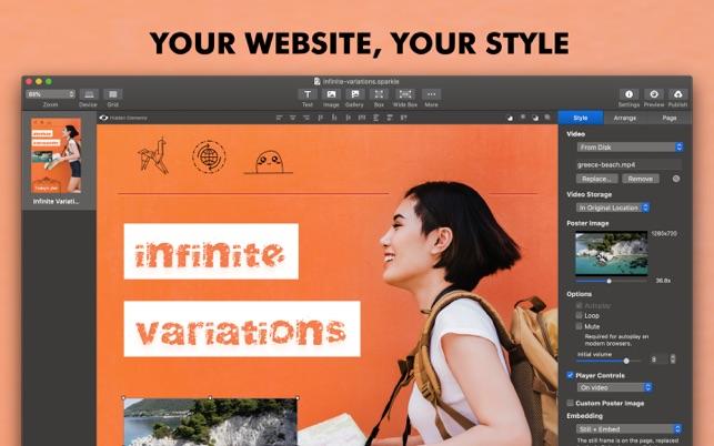 Sparkle Visual Web Design On The Mac App Store