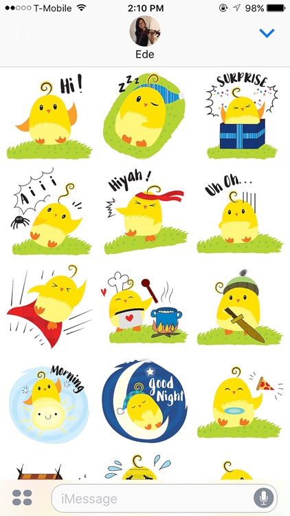 Cute Ming Cheep Stickers screenshot-1