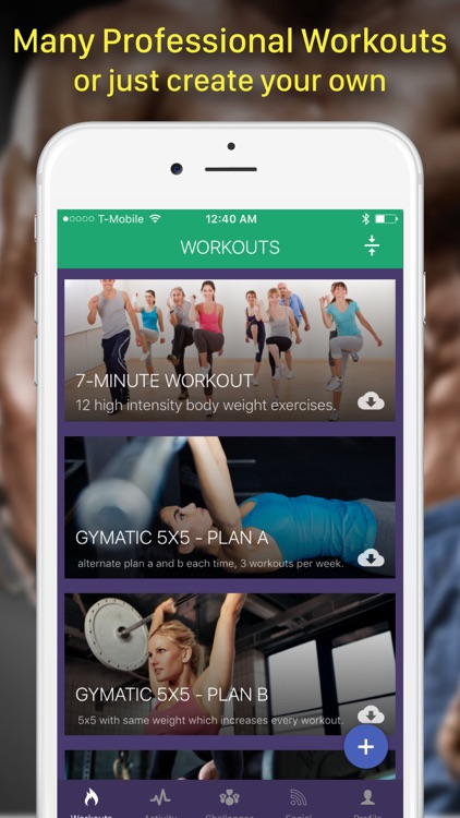 Gymatic Workout Tracker: Exercise Routines Gym Log