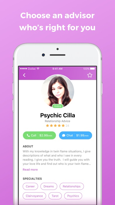 Zodiac Touch - psychic reading app image