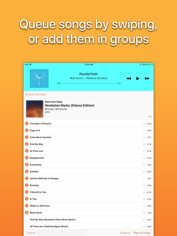 Screenshot #3 for Picky Music Player