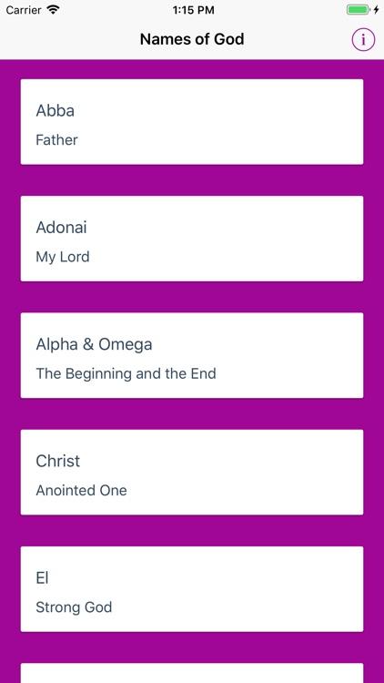 Names of God - OT & NT