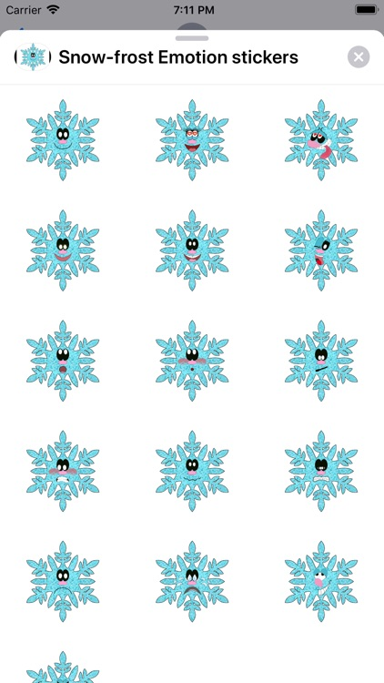 Snow-frost Emotion stickers