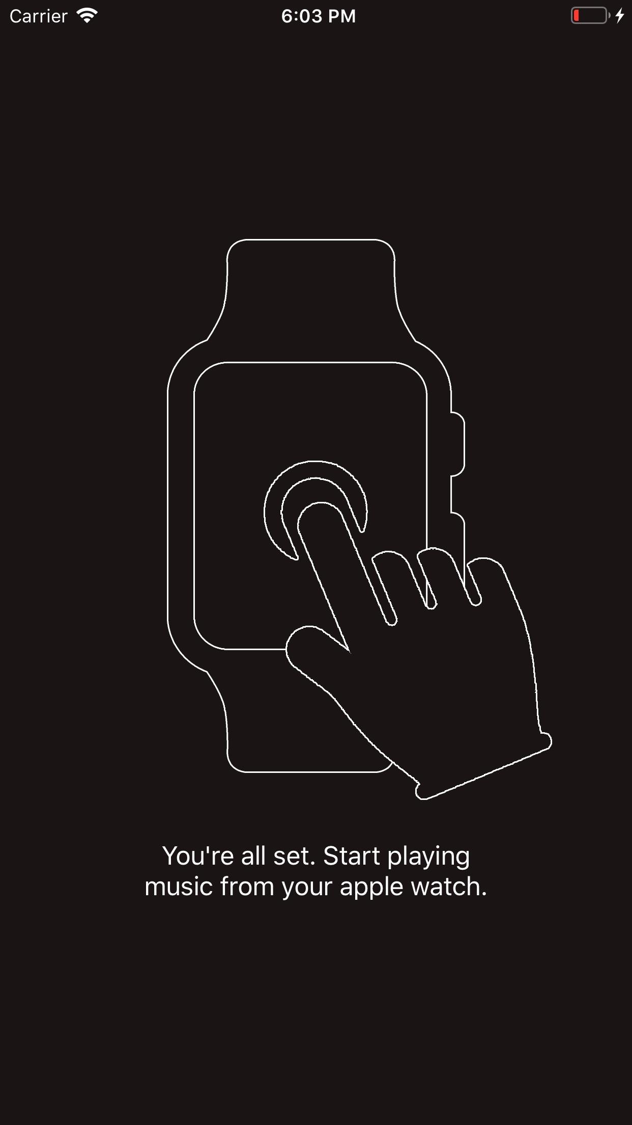 Screenshot do app Watchify