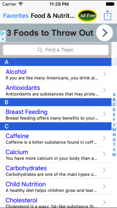 Food & Nutrition: Healthy Facts and Tips App screenshot one