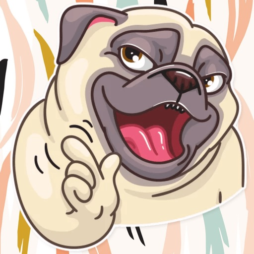 Pug Power Stickers