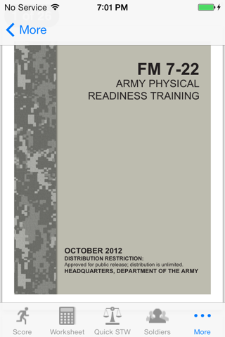 Army Fitness APFT Calculator screenshot 4