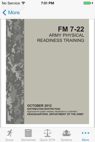 Army Fitness APFT Calculator screenshot 4