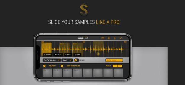 Samplist app screenshot