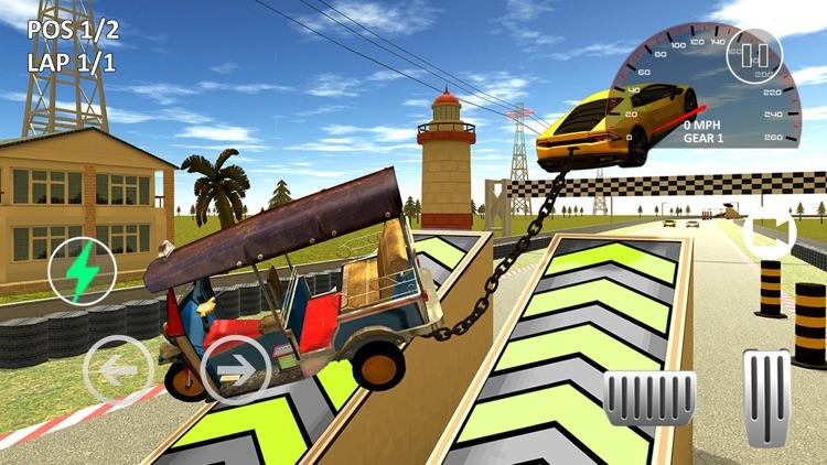 Tuk Tuk Chained Car Racing screenshot-4