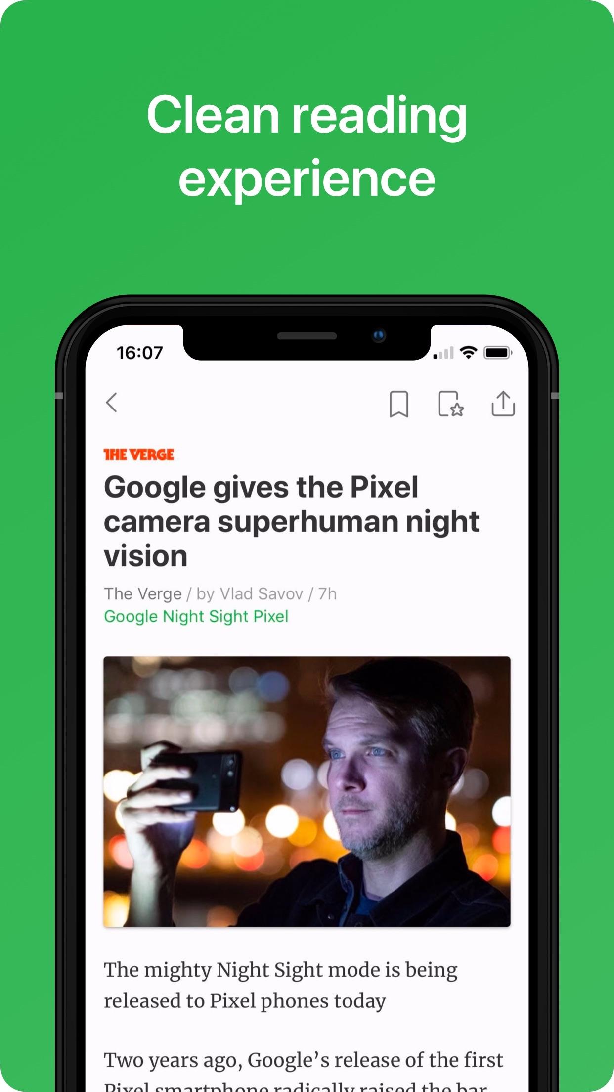 Screenshot do app Feedly - Smart News Reader
