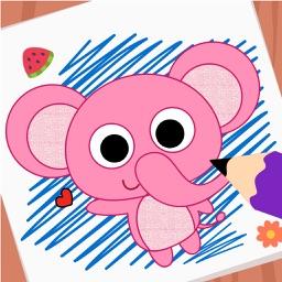 Purple Pink Coloring Book-Kids