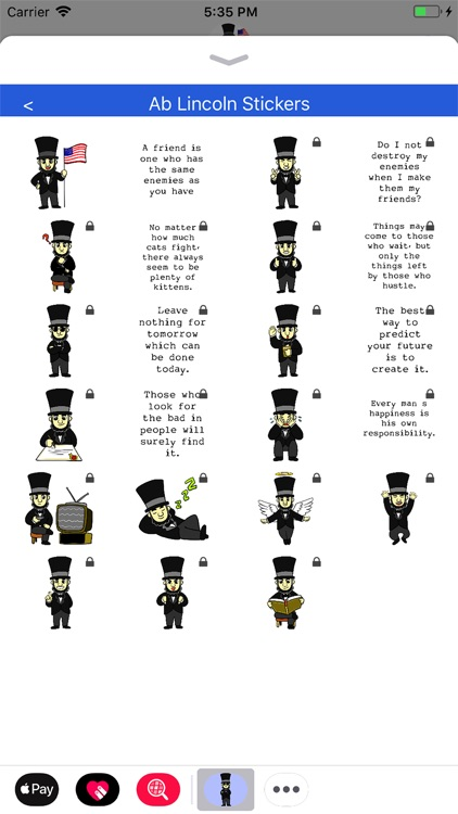 Ab Lincoln Stickers