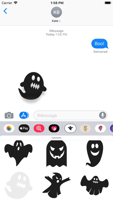Ghost Stickers Pro screenshot four