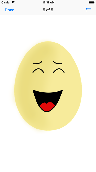 Yellow Egg Face Sticker Pack screenshot four