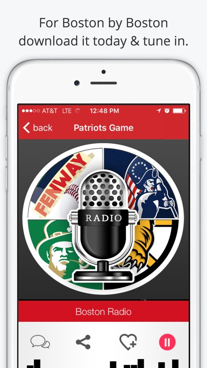 Boston GameDay Radio For Patriots Red Sox Celtics screenshot-1