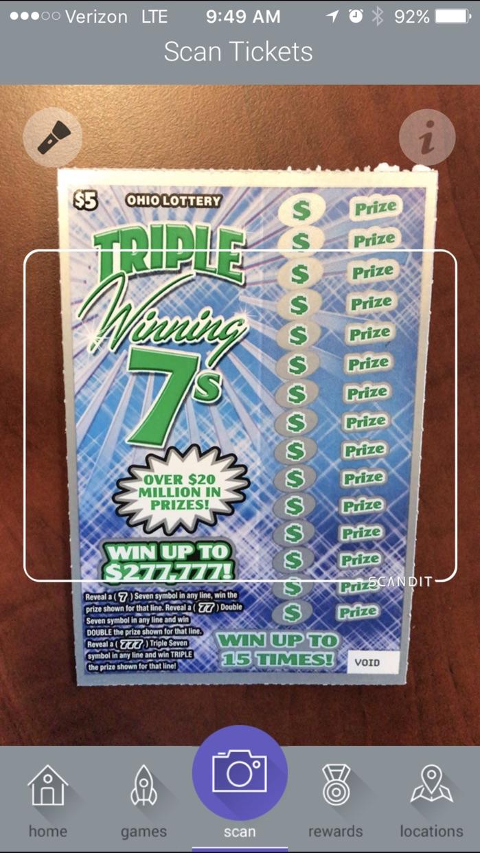 Ohio Lottery Screenshot