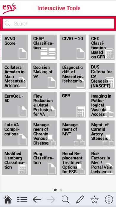 ESVS Clinical Guidelines screenshot three