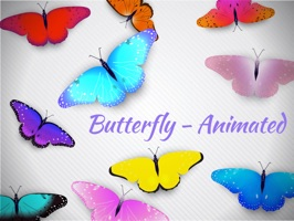 Bright Butterfly Stickers