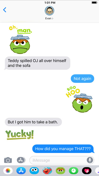 Oscar the Grouch Stickers screenshot three