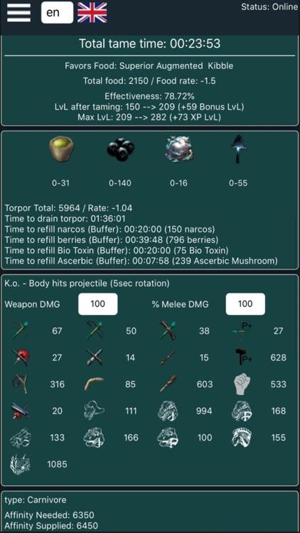 A-Calc for Ark Survival Evolve