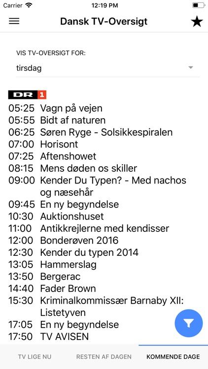 dansk tv oversigt
