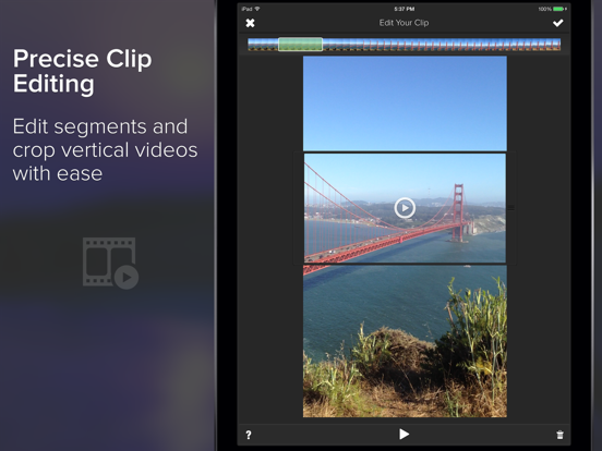 Clipper - Instant Video Editor for Making Instagram Videos screenshot