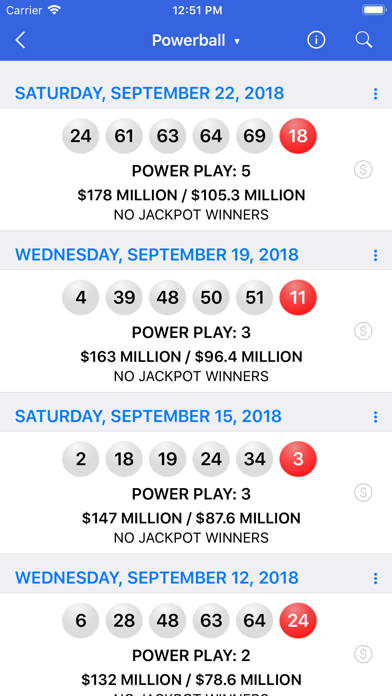 Lotto Results review screenshots