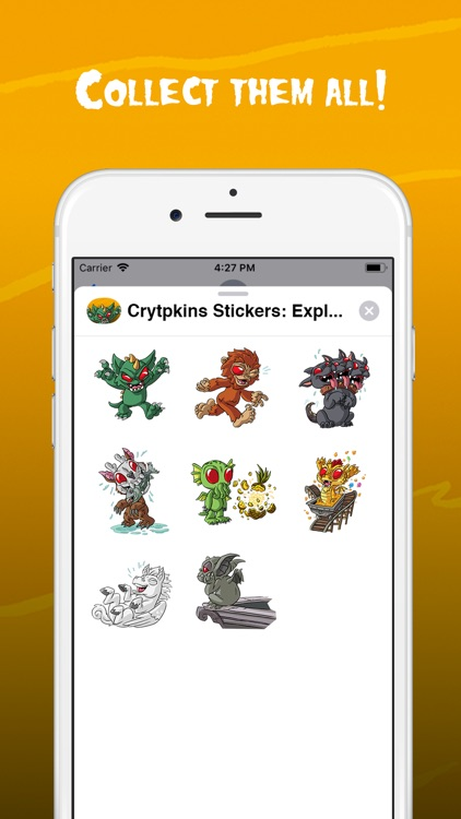 Cryptkins Stickers: Explore