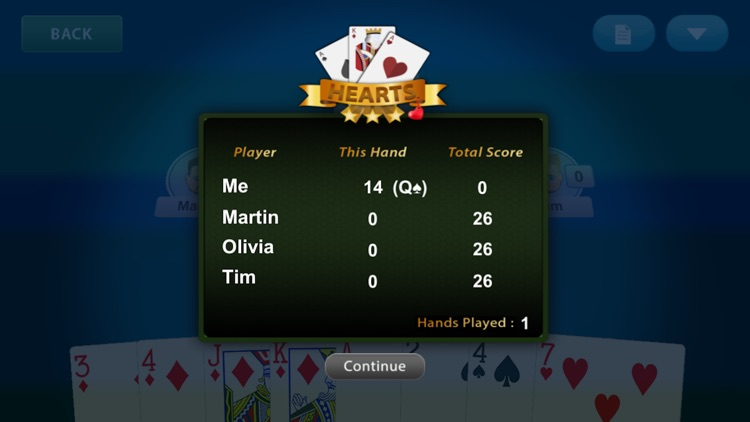 Hearts Mastery Card Game - Classic Play screenshot-3