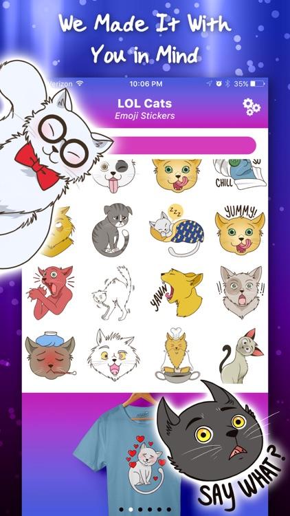 LOL Cats Emoji Stickers