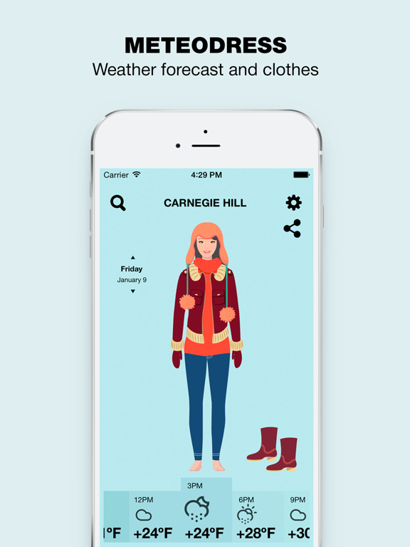 MeteoDress: Weather Screenshots