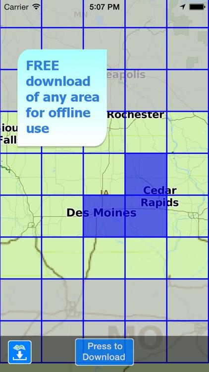 Aqua Map Iowa Lakes GPS HD screenshot-5